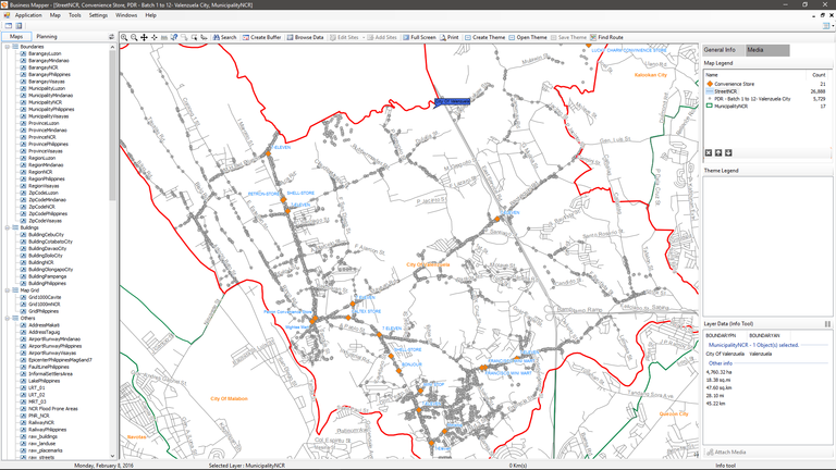 Business Mapper Digital Maps GIS Maps Map of Convenience Store